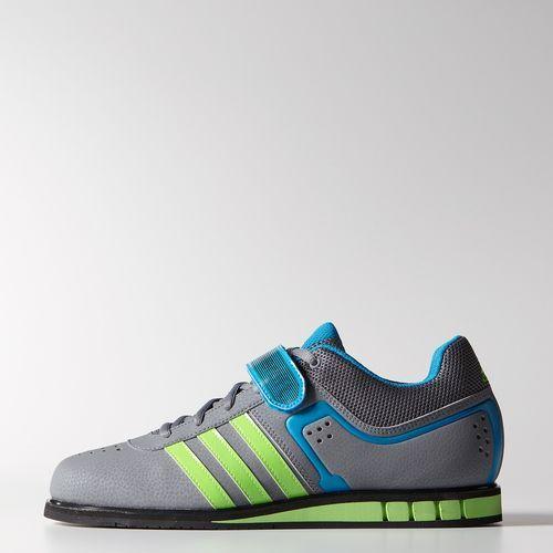 best website 51dcd 1ae4c adidas - Powerlift 2.0 Shoes Grey  Neon Green  Solar Blue M18769
