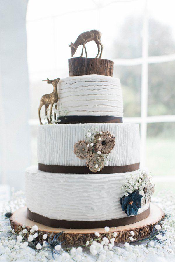 Light Airy Fall Barn Wedding RusticRustic CakesFall