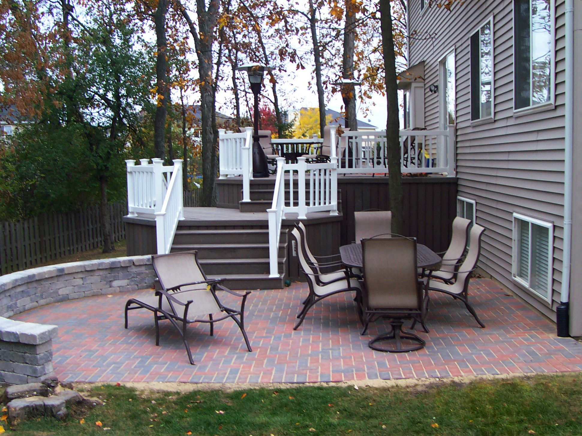 Paver Patio And Composite Deck Design By Gurnee Il Deck