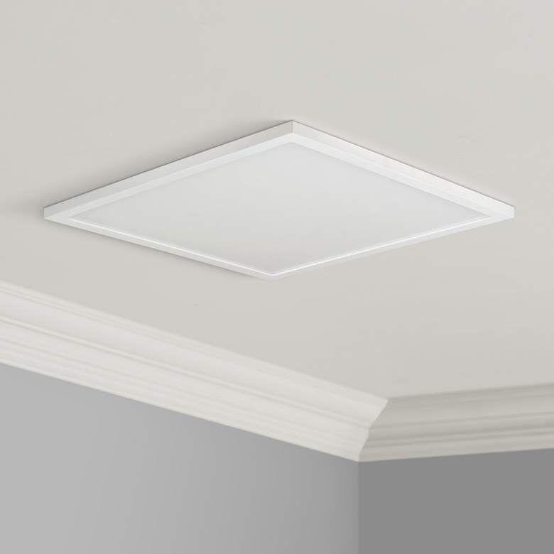 Maxim Wafer 15 Wide White 4000k Led Square Ceiling Light 53v48