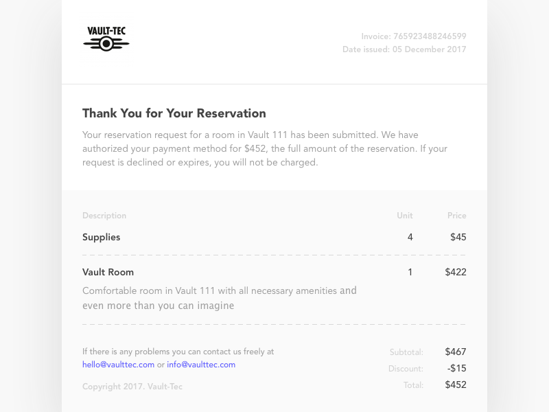 Daily ui challenge 17 email receipt daily ui challenge 17 email receipt yelopaper Choice Image