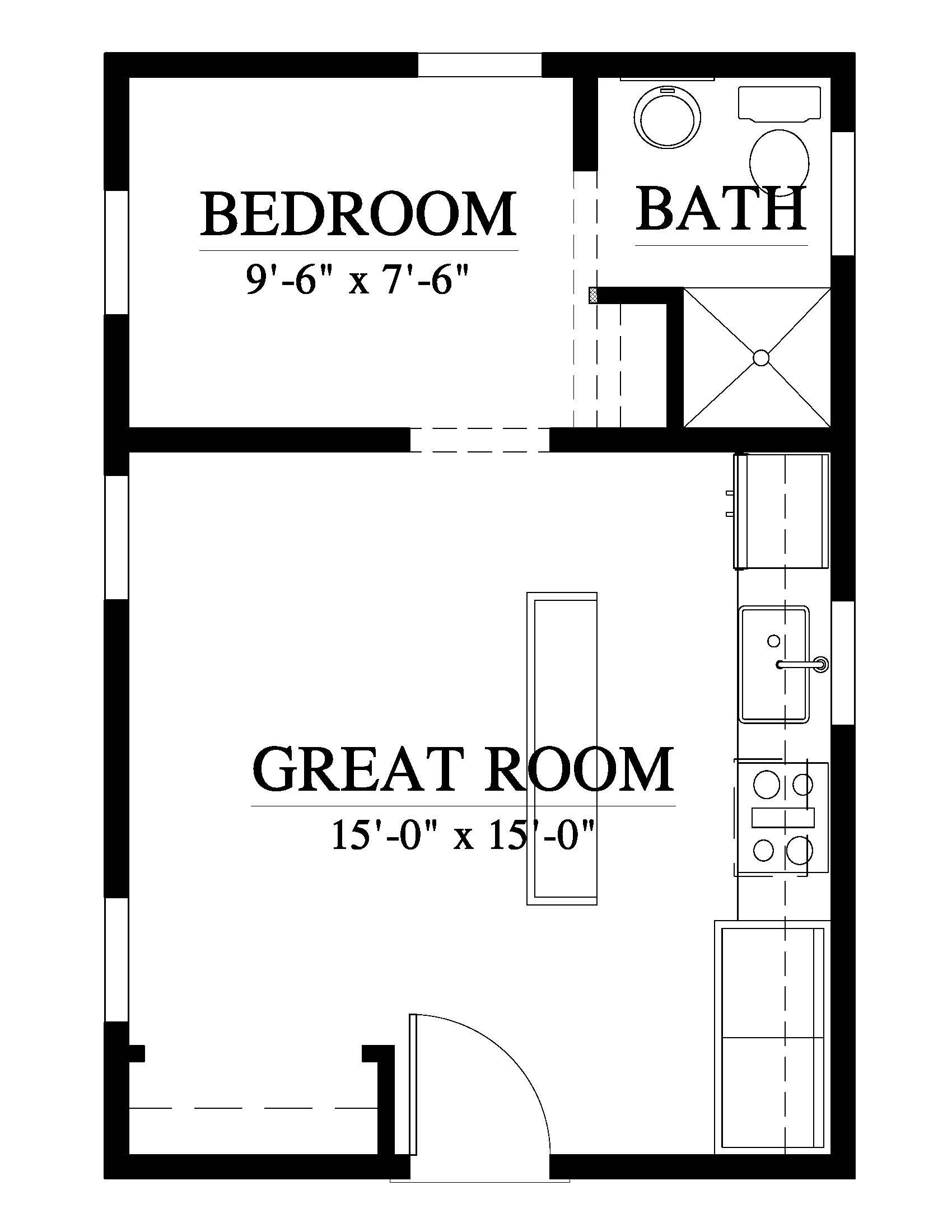 Elevation Guest House Plans Tiny House Floor Plans Small House Floor Plans