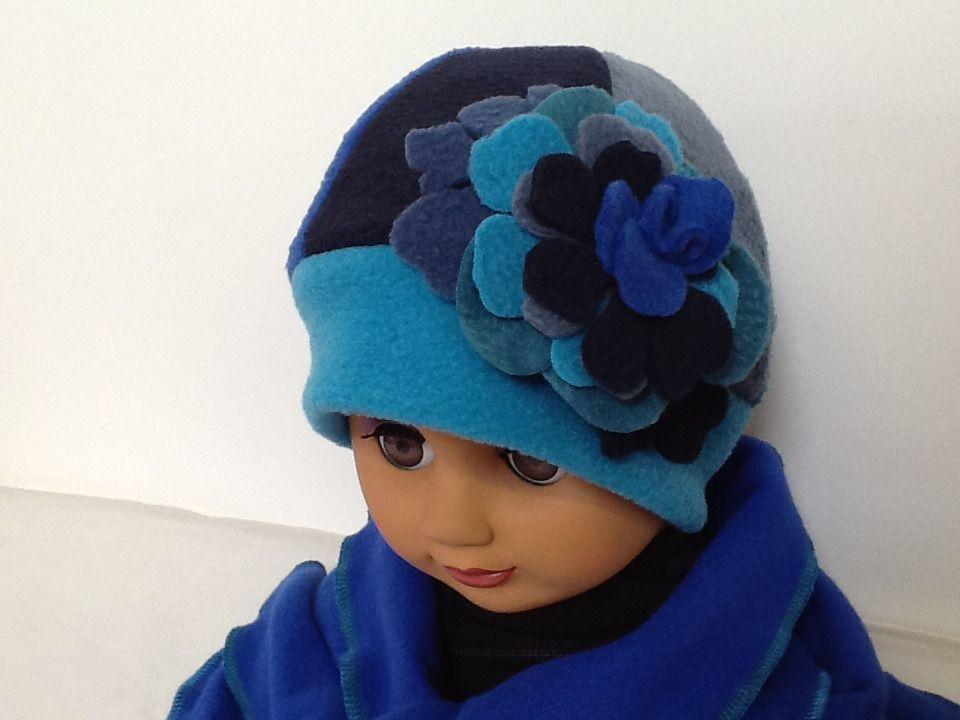 Bonnet écharpe sur mesure en polaire   Mode filles par creation-valerie- castets 4829ad623be