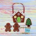 GIngerbread Busy Bag Embroidery Design - 5x7 Hoop or Larger