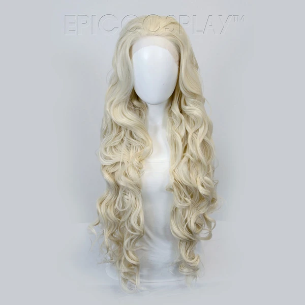 Urania Platinum Blonde Wig Long Wigs Curly Lace Front Wigs Blonde Wig