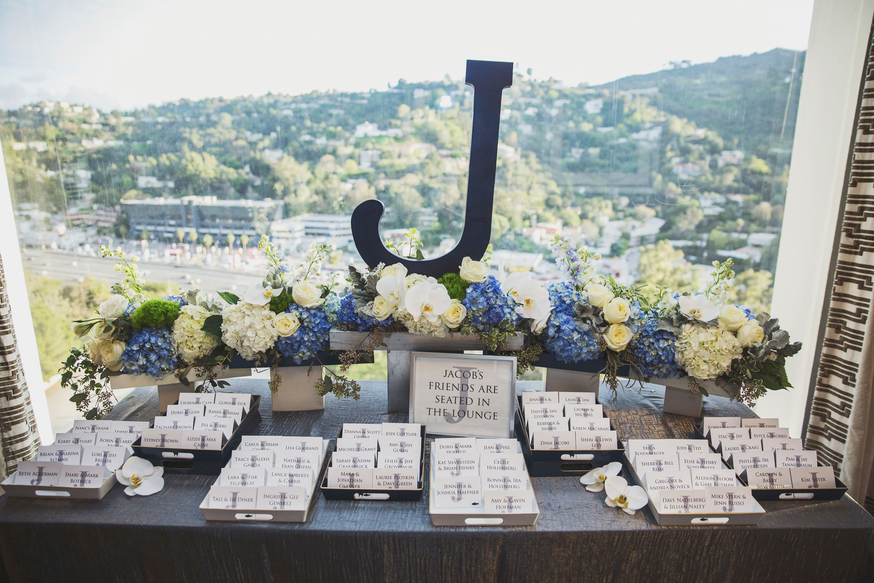 Bar Mitzvah Table Assignment Table Floral By Db