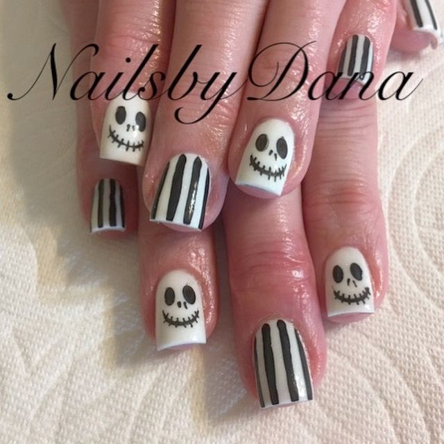 #nailsbydana #halloweennails #jackskellington | Halloween ...