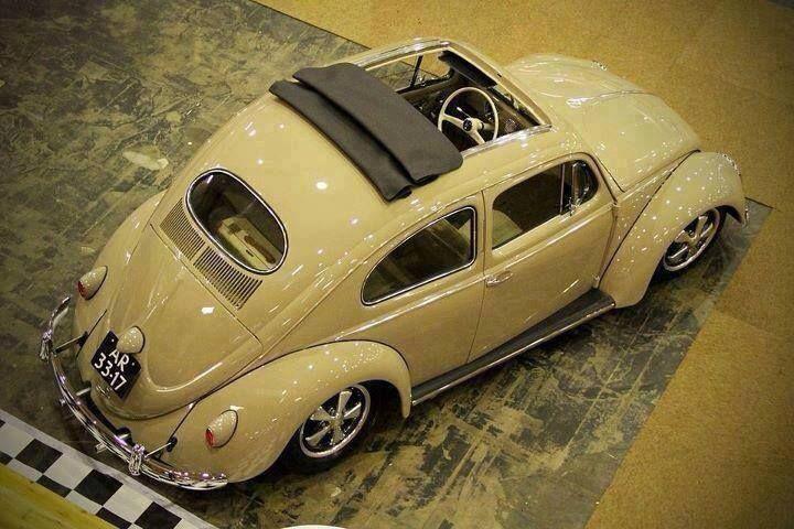 White Bug With Ragtop Volkswagen Volkswagen Beetle Vw Bug
