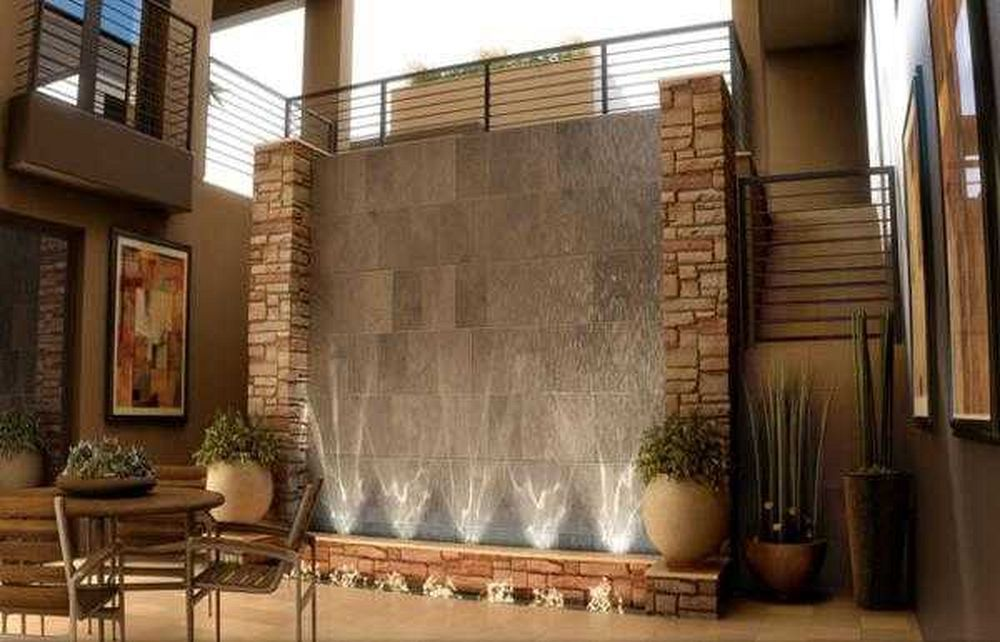 4 Great Indoor Water Feature Ideas Water Wall Fountain Interior