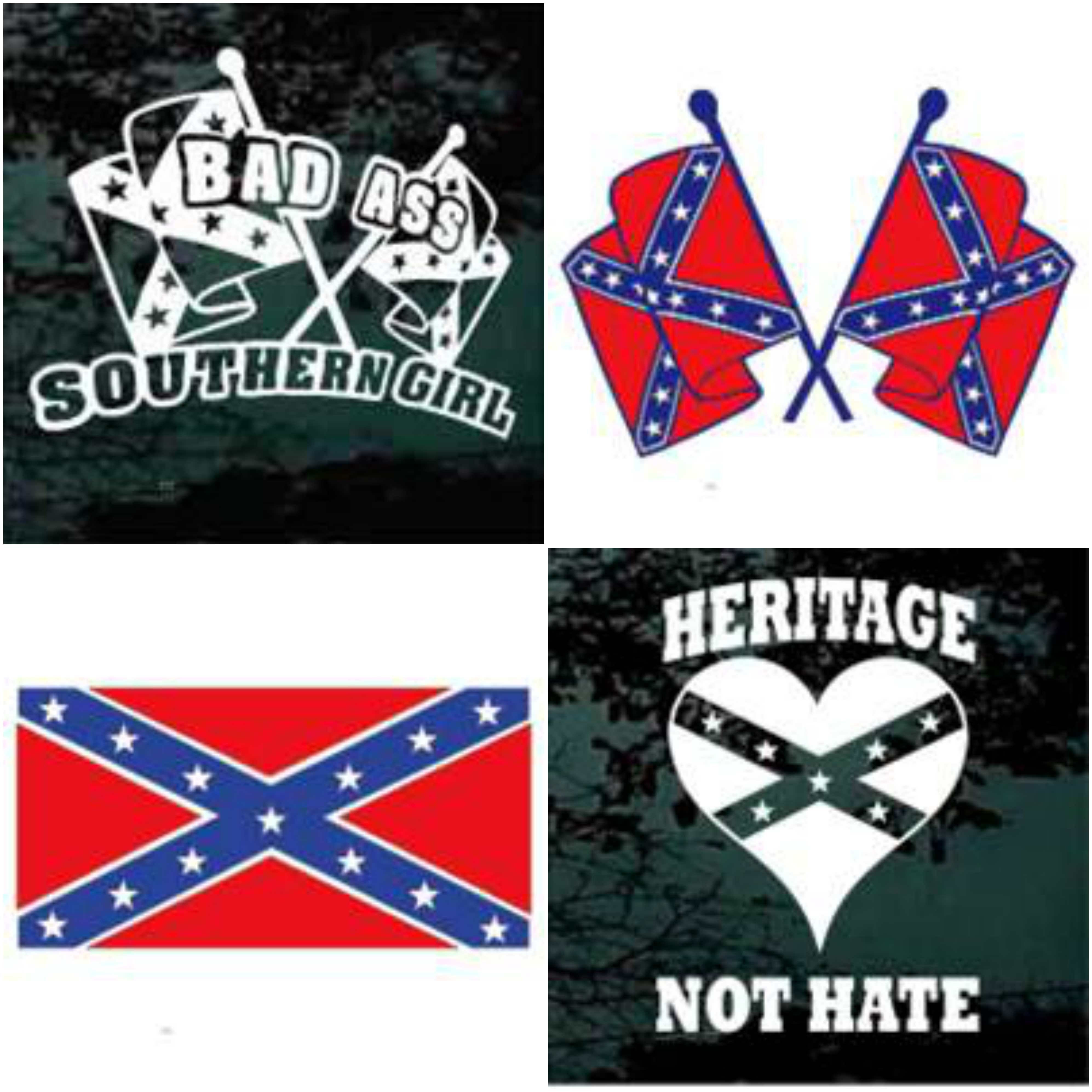 Confederate flag decals rebel flag stickers
