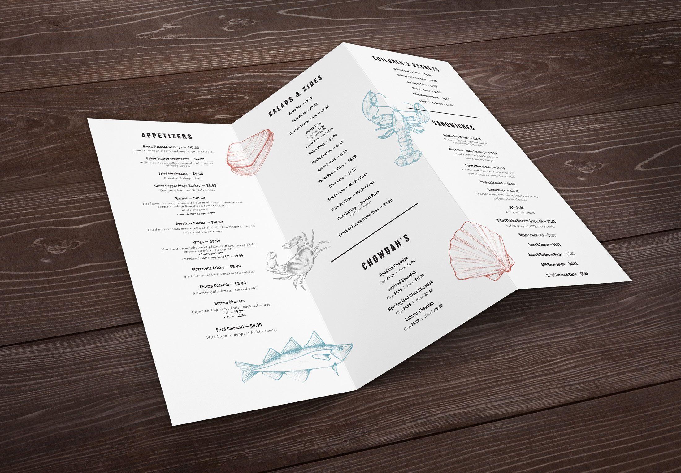 takeout menu design for dena s branding pinterest copywriting
