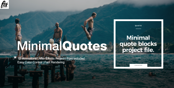 Minimal Quotes (Abstract) Envato Videohive aftereffects