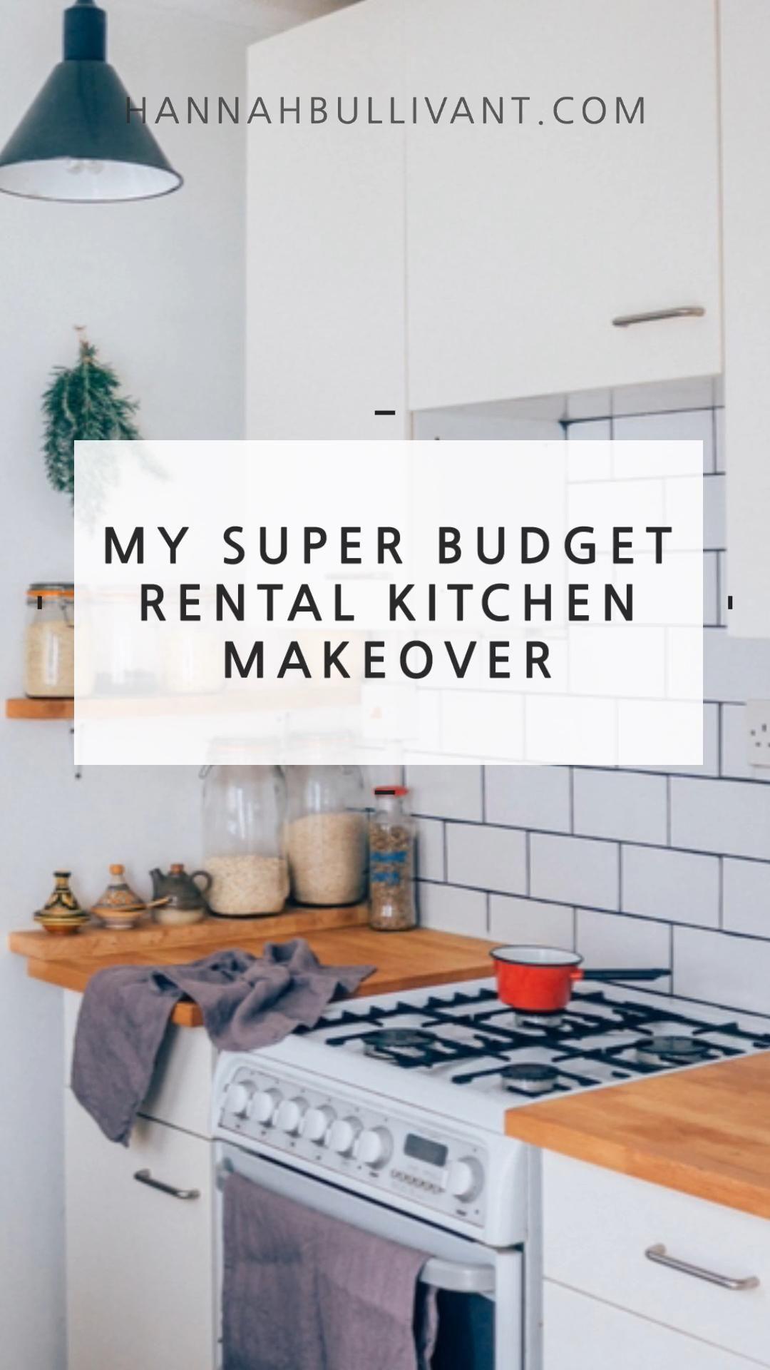 Super Budget Rental Kitchen Makeover