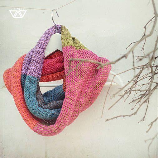 diEnes / čododa- knit cowl, colorful neckwarmer