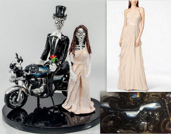 Motorcycle Cake Topper Love Never Die Skeleton By Iampleasure