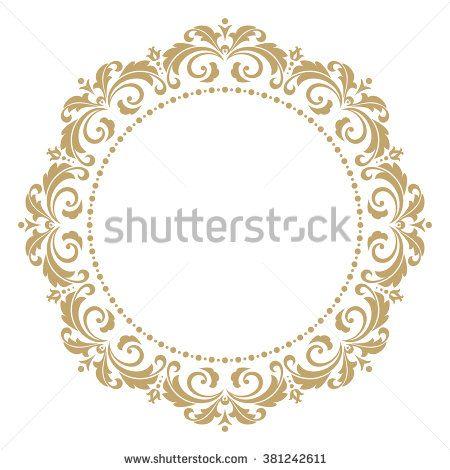 vector decorative line art frames for design template