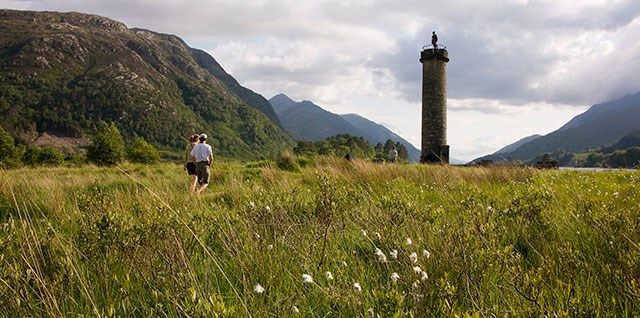 Framed amid typically spectacular Highland scenery at the head of Loch Shiel with sweeping glens as a backdrop, is Glenfinnan.