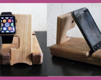 Christmas Gifts iwatch stand Desk organizer por artWoodworking