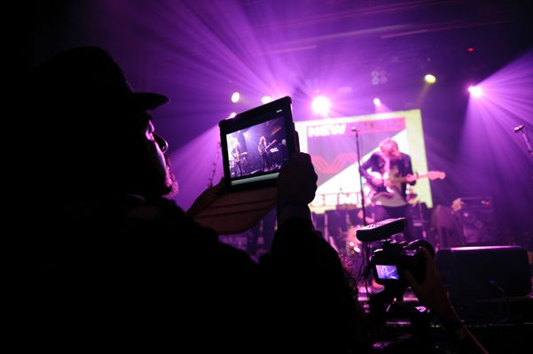 Catching a picture of the Artist on the Verge performance at @Webster Hall. Don't forget to hashtag #NMS2012!