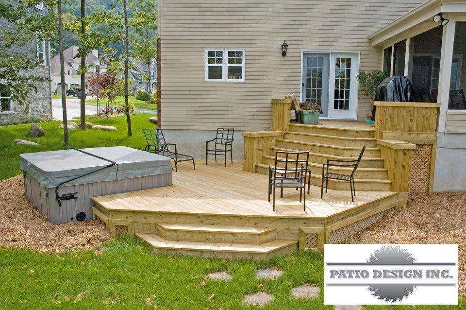 Patio Avec Spa  Patio    Extrieur Terrasses Et Cour