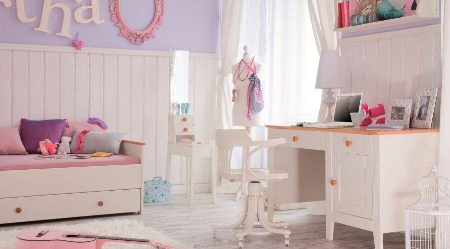 Habitación infantil clásica con muebles blancos | Mobiliario ...