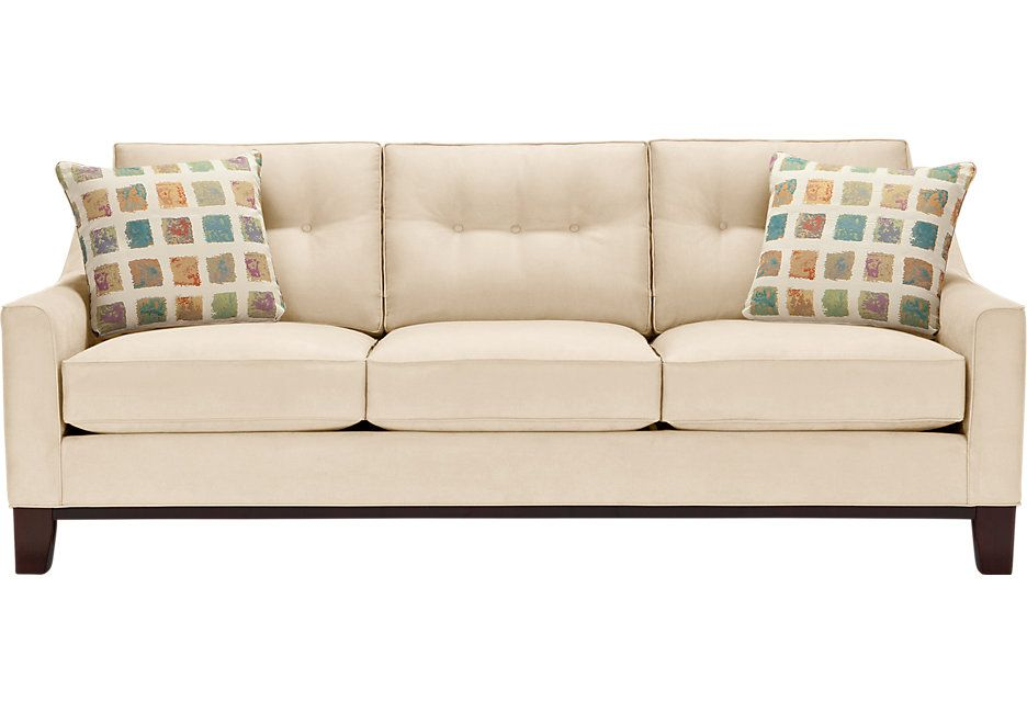 Picture Of Cindy Crawford Home Montclair Vanilla Sofa From Furniture
