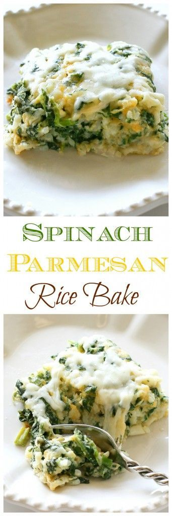 Spinach Parmesan Rice Bake - The Girl Who Ate Ever
