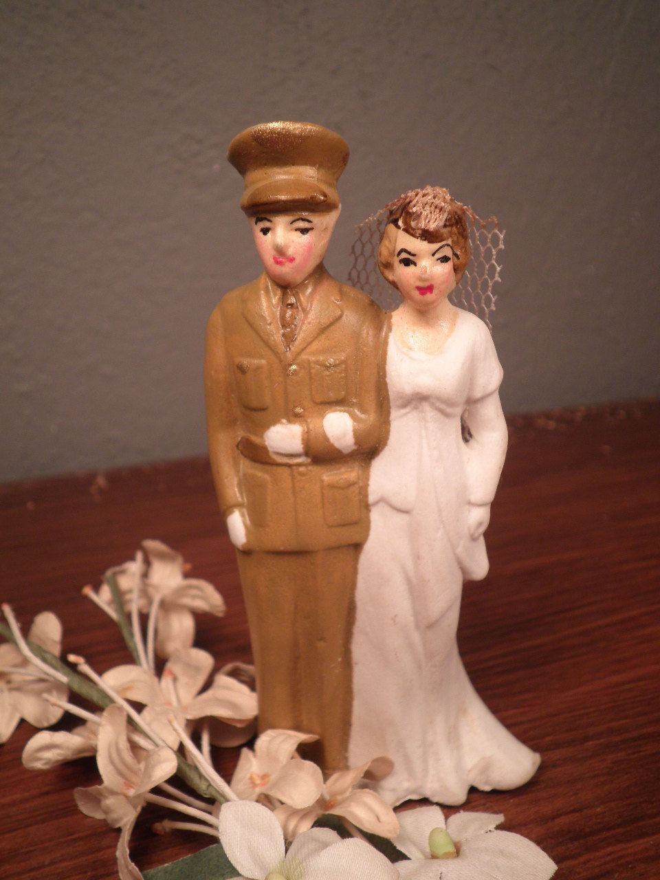 Vintage WWII Military Wedding Cake Topper