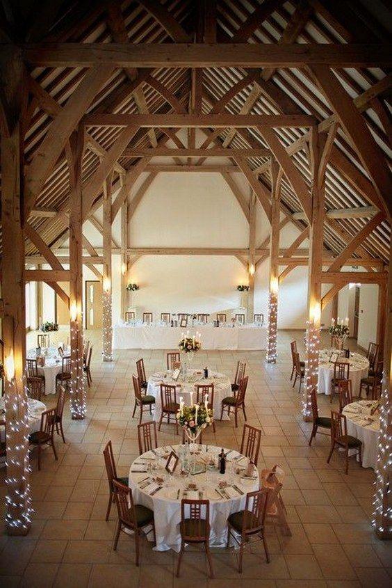 30 barn wedding reception table decoration ideas wedding for Wedding venue decoration ideas