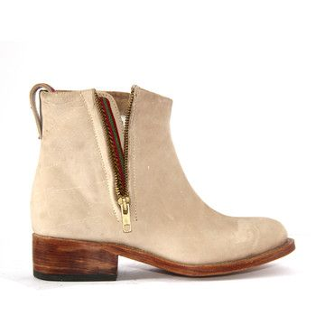 From $240 down to $96.  These are so cute.  I liked this design on #Fab. Suede Bootie Bone