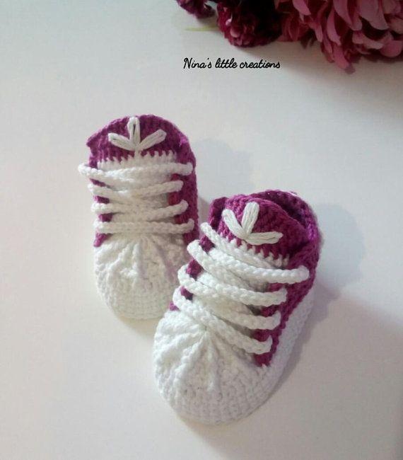 sneakers neonata tipo adidas/ crochet baby adidas sneakers ...