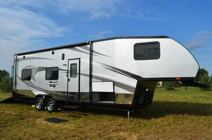 Fifth Wheel Vrv Livin Lite All Aluminum Toy Hauler And Camp