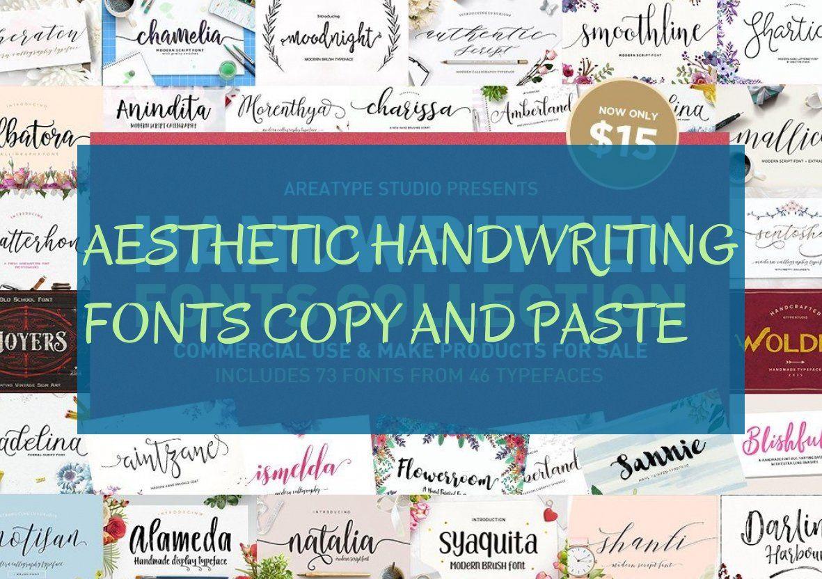 Aesthetic Handwriting Fonts Copy And Paste Asthetische Handschriftliche Schriften Kopieren Und Einfugen Polices D Ec Handwriting Handwriting Fonts Typeface
