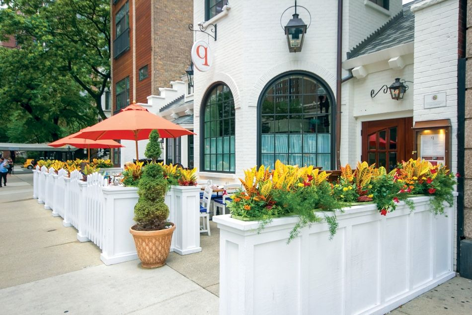 Restaurant / café outside patio flowers (With images