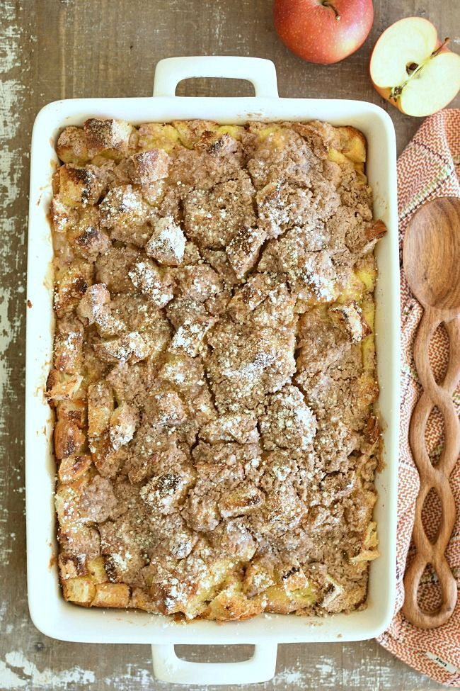 Overnight Baked Apple Pie French Toast is a super easy