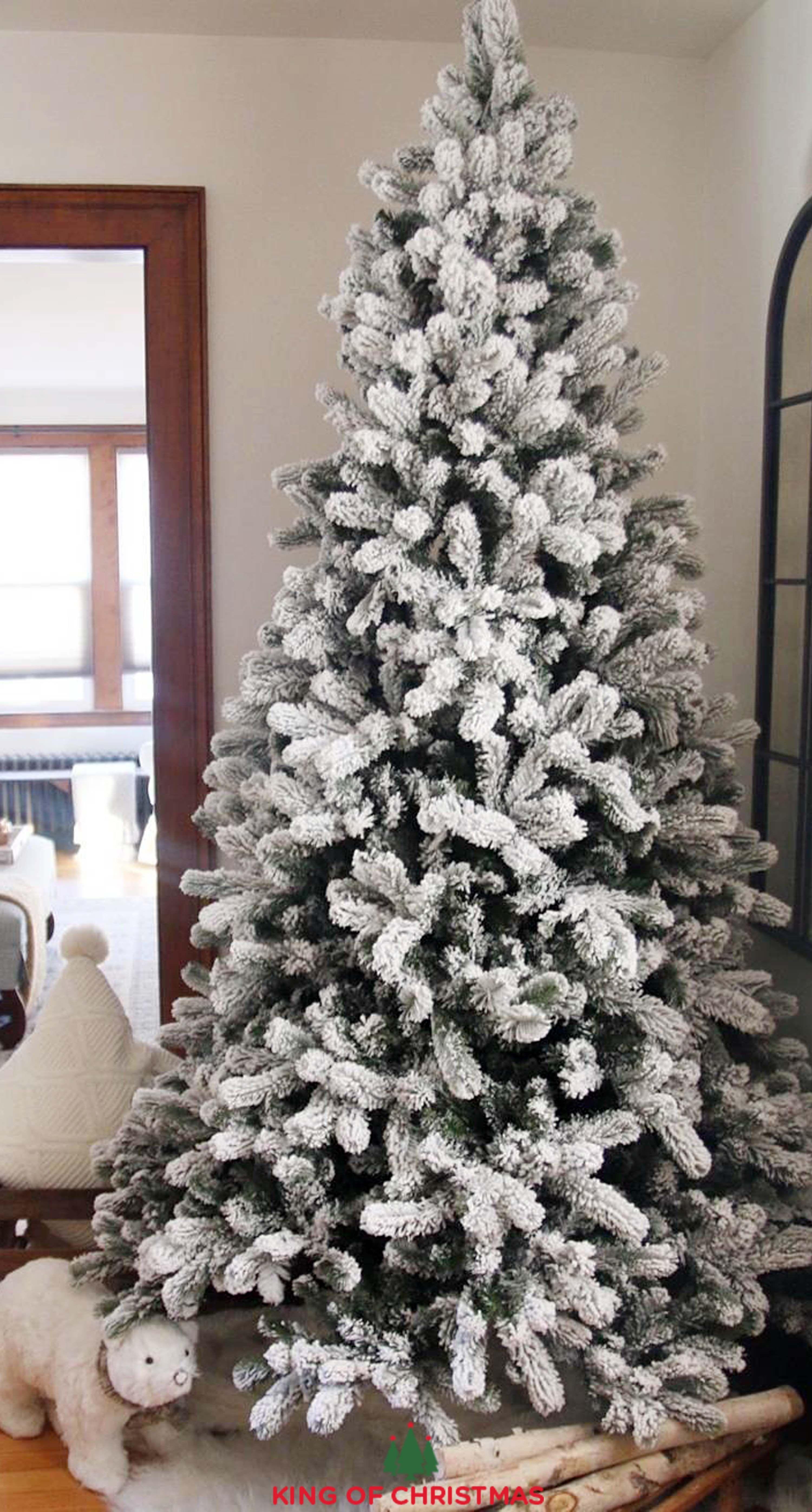 Yorkshire Slim Christmas Tree King Of Christmas Flock Christmas