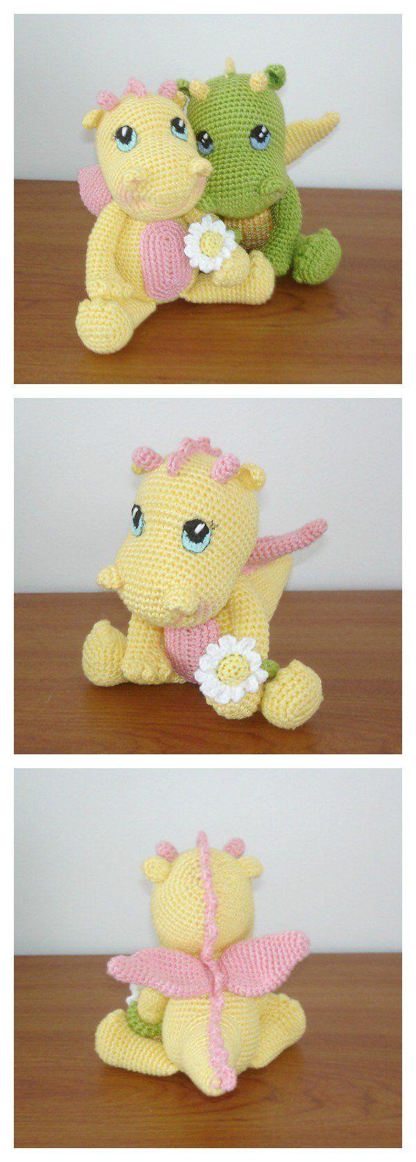 Crochet Amigurumi Dinosaur Free Patterns | Pinterest | Dinosaurier ...