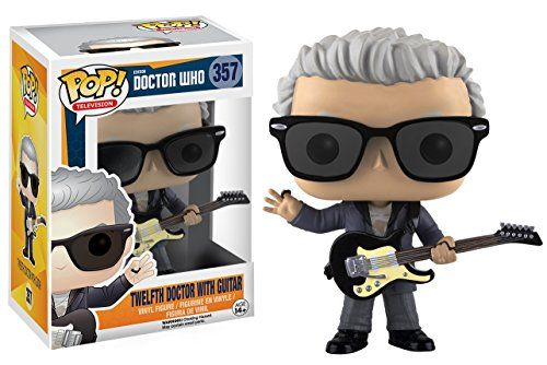 From Doctor Who 12th Doctor W Guitar As A Stylized Pop Vinyl From Funko Figure Stands 3 3 4 Inches And Comes I Doctor Who Merchandise Doctor Who 12 Doctor Who