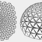 Folded dome by Daniel Piker