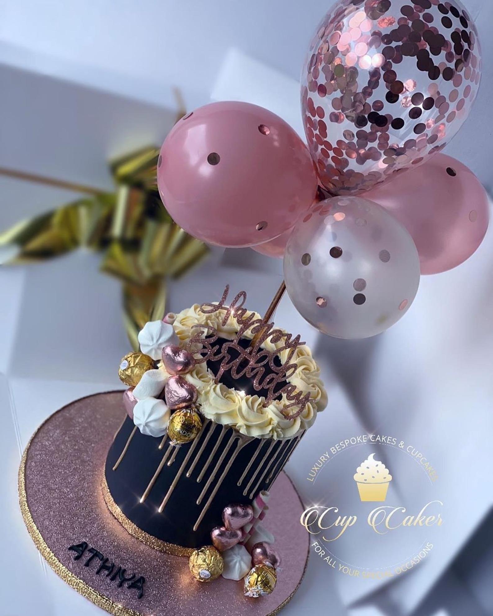 Balloon Cake Topper Confetti 5 Mini Bunting Banner | Etsy ...