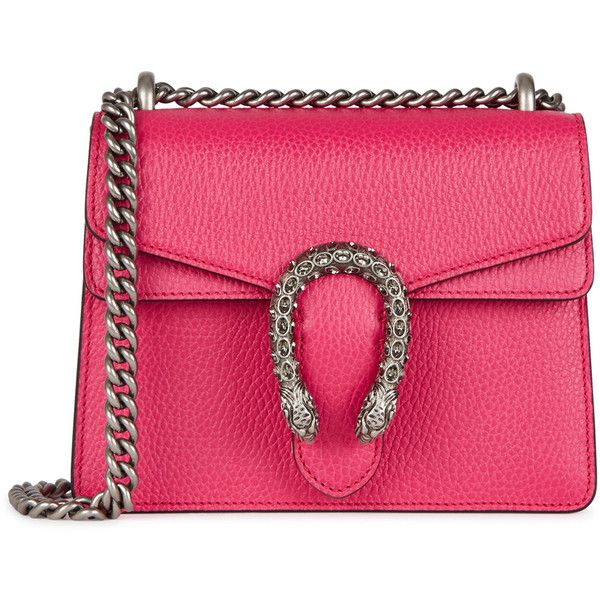 64b8de897 Gucci Dionysus Mini Fuchsia Leather Shoulder Bag (€1.585) ❤ liked on  Polyvore featuring bags, handbags, shoulder bags, mini handbags, pink purse,  ...