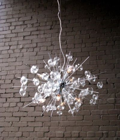 Bubbles Glass Modern Chandelier Solaria Large Light Dining Room ...