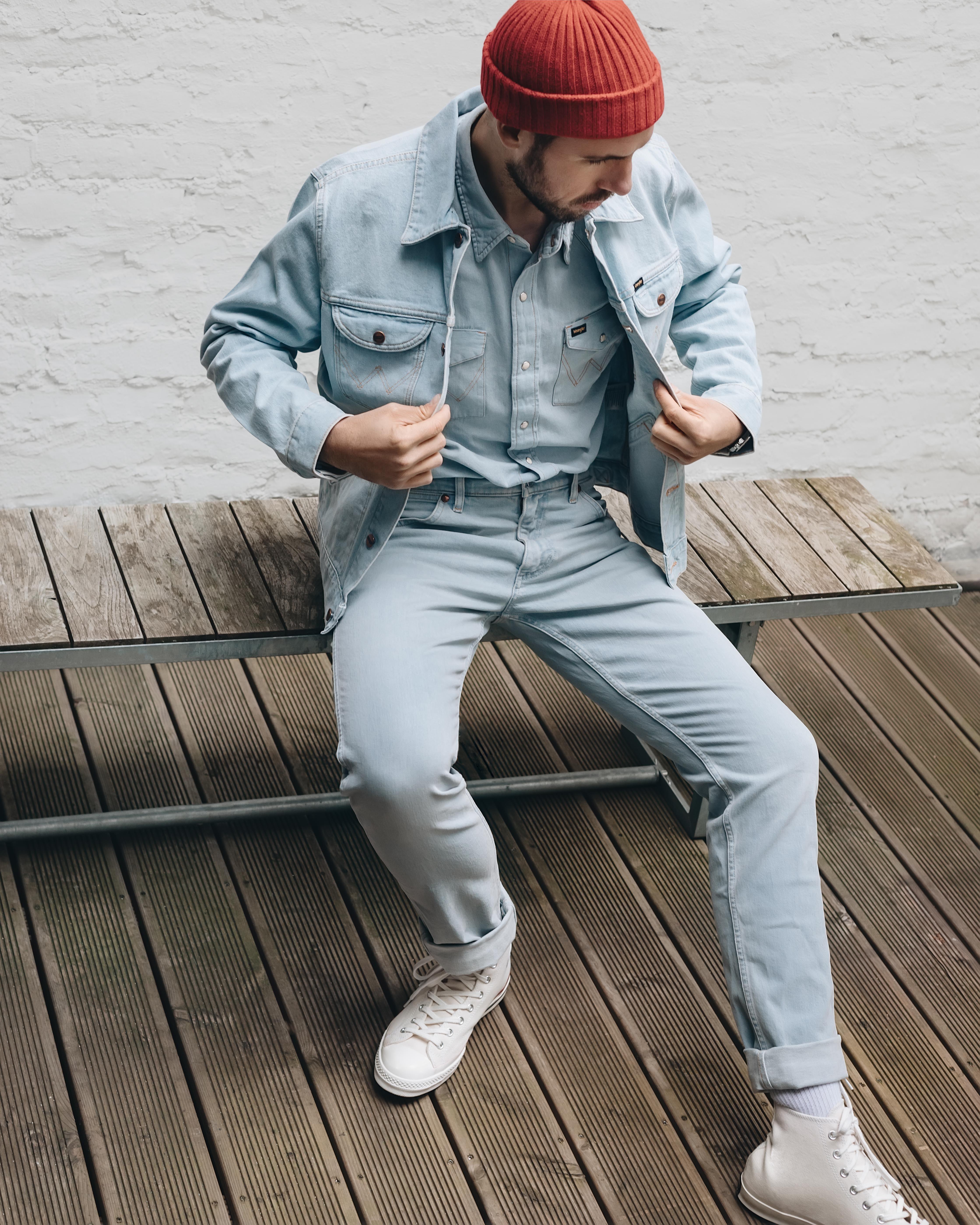 Wrangler Icons 124mj Men S Denim Jacket Men S Jackets Outerwear Wrangler Denim Jacket Fashion Denim Jacket Men Hiking Outfit [ 5598 x 4478 Pixel ]