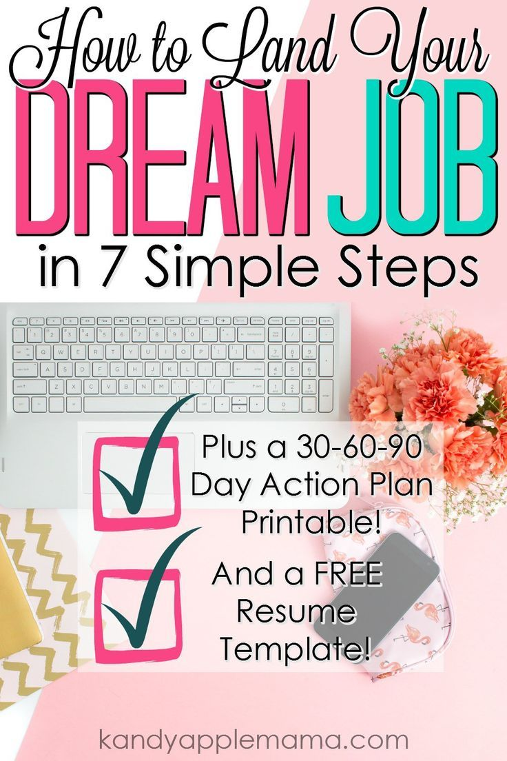 7 Free Resume Templates Identifying & Landing Your Dream Job  Kandy Apple Mama  Dream Job