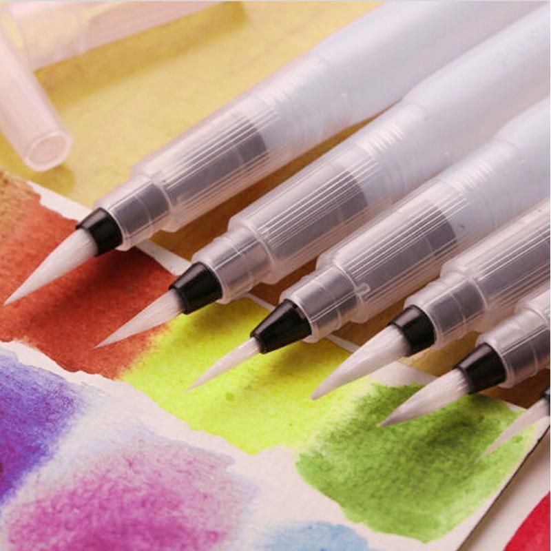 3pc Portable Watercolor Brushes Pen Watercolor Water Brush Pen