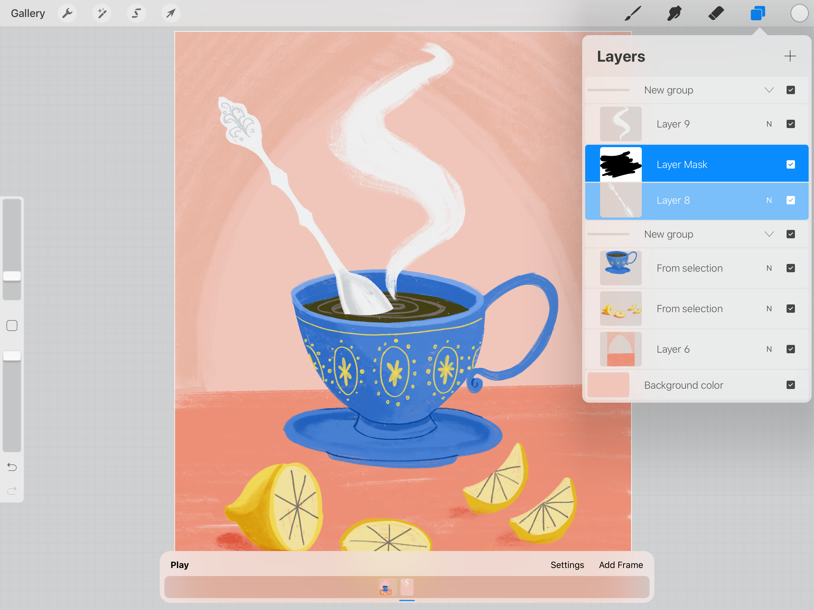 How To Animate In Procreate Create A Cute Gif Of A Tea Cup Animation Procreate Cute Gif