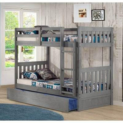 Best Birch Lane™ Heritage Benedetto Twin Over Twin Bed With 400 x 300