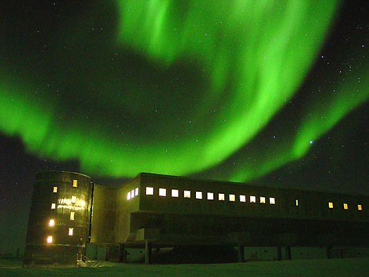 Aurora Australis - Scott Station in Antarctica.