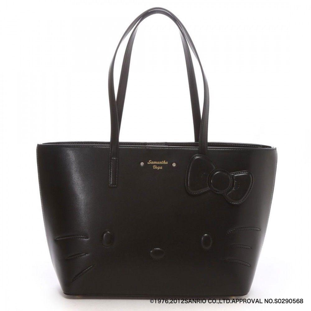 308f71f0ab Samantha Vega Thavasa Hello Kitty Tote Bag Black Small (B5) Large (A4)   SamanthaVega  Totebag
