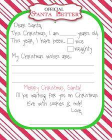 Moo MooS  Tutus Manic Monday Freebie Santa Letter  Letter